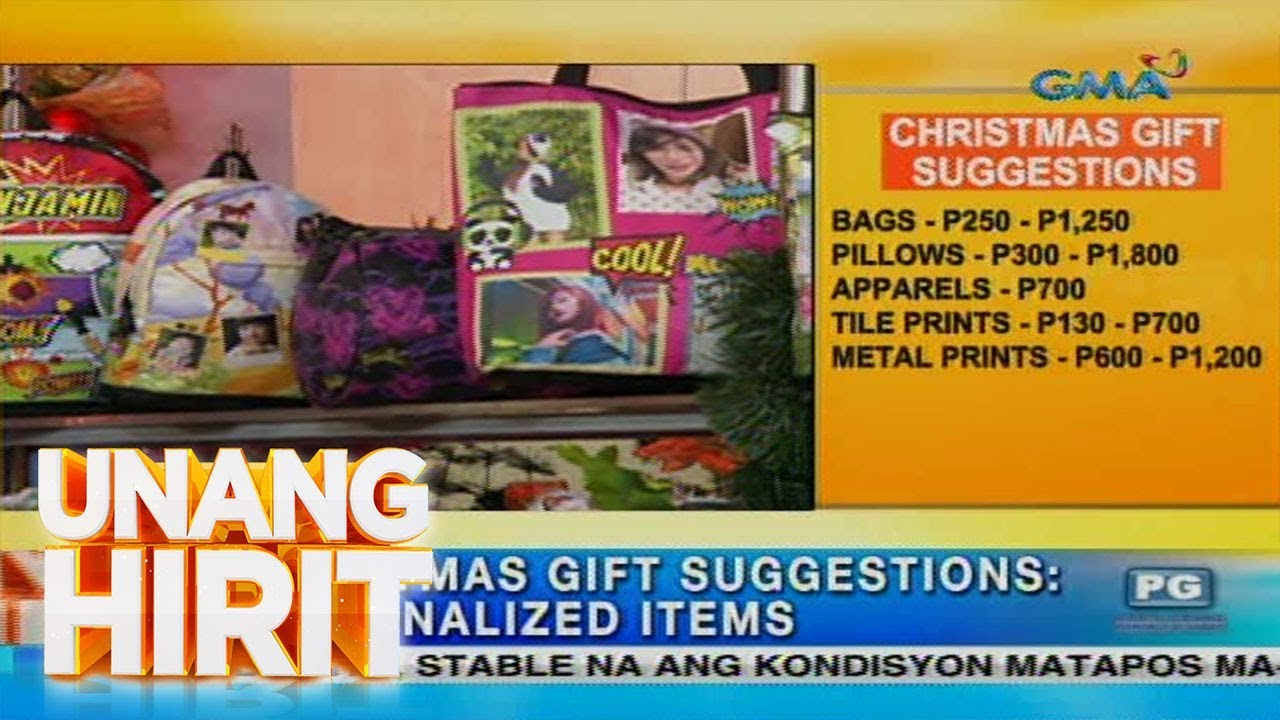 Unang Hirit: Christmas Gift Suggestions: Personalized Items - YouTube