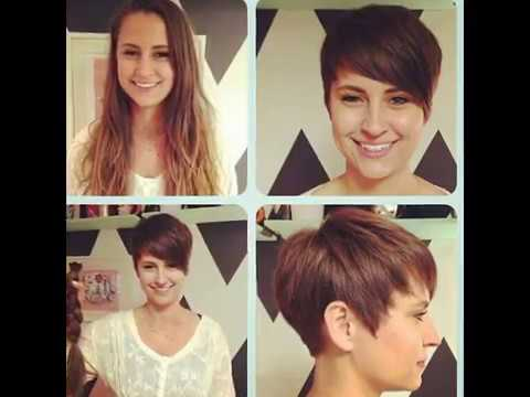 Haircut Long To Pixie Youtube