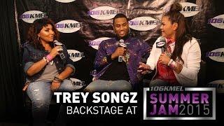 Trey Songz Backstage at KMEL Summer Jam 2015