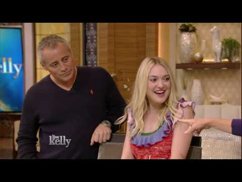 "Dakota Fanning Has A ""Friends"" Reunion With Matt LeBlanc"