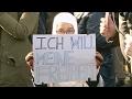 Manifestación en Austria contra la iniciativa del gobierno de prohibir los velos de rostro completo