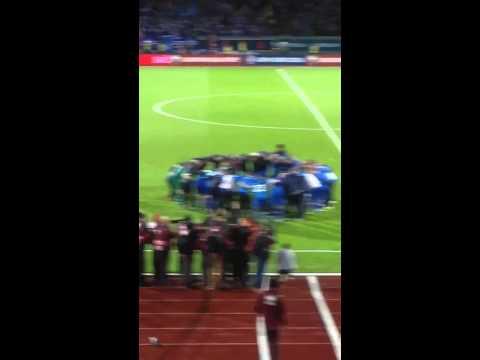 Amazing! Iceland's team celebrate qualifying for EURO 2016