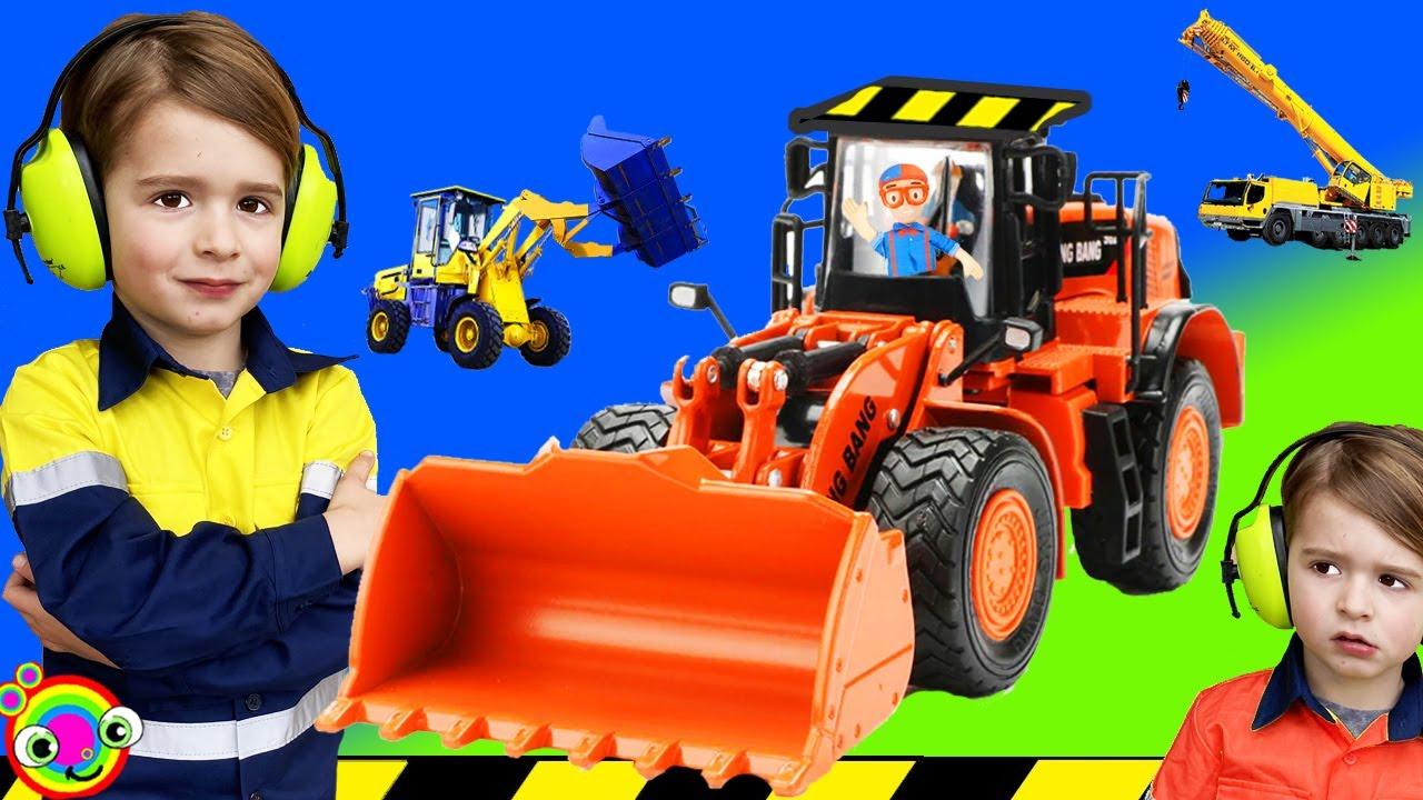 Construction Vehicles for Kids | BLiPPi Excavator Truck | min min playtime
