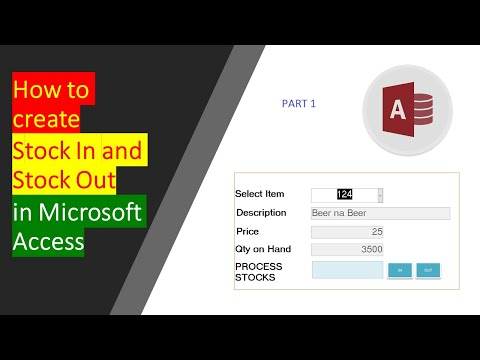 How To Create Stock In And Stock Out In Microsoft Access Part 1