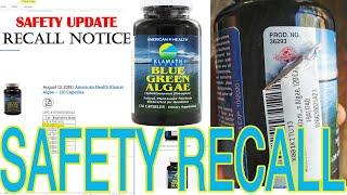 Klamath Shores Blue Green Algae American Health Recall