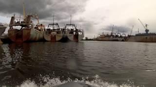 видео: рыболовные суда
