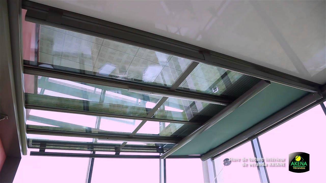 store de toiture interieur de veranda ariane