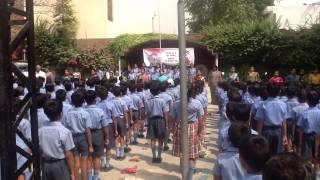 INDIAN NATION ANTHUM SONG FROM TRIVENI MEMORIAL SR SEC. SCHOOL BAHADURGARH ON BHARAT BHAWANA DIWAS