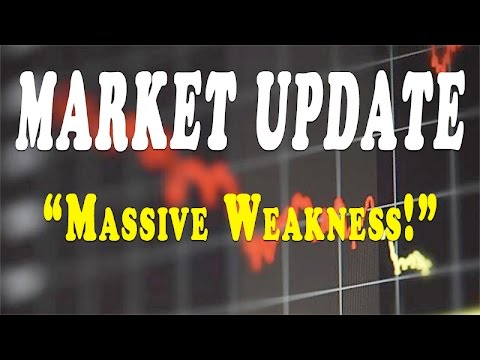 MARKET UPDATE - MASSIVE WEAKNESS - WHATS GOLD AND SILVER DOING