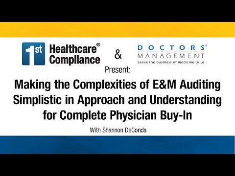 Making The Complexities Of E&M Auditing Simplistic In Approach