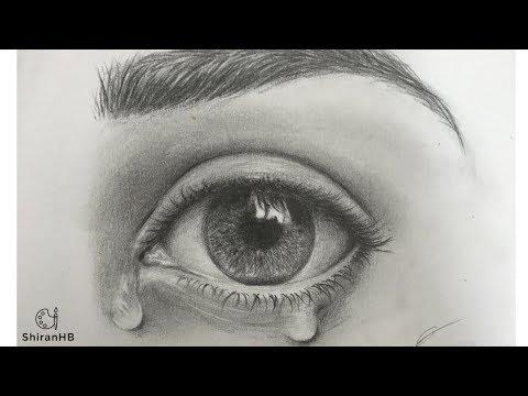 איך לצייר עין דומעת | ציור עיניים | איך לצייר עיניים