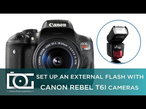 TUTORIAL | How To Set Up An External Flash With CANON Rebel T6i Cameras