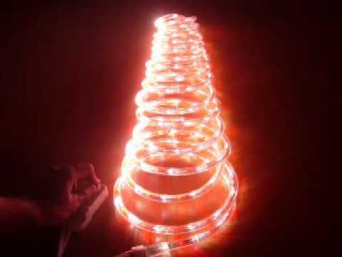 Red pure white chasing led rope light kit youtube red pure white chasing led rope light kit aloadofball Images