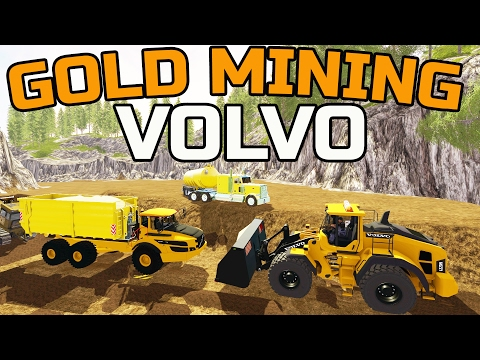 FARMING SIMULATOR 2017 | GOLD MINING | NEW VOLVO | MULTIPLAY