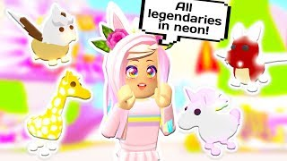 HOW TO GET ALL LEGENDARY NEON PETS // Roblox Adopt Me