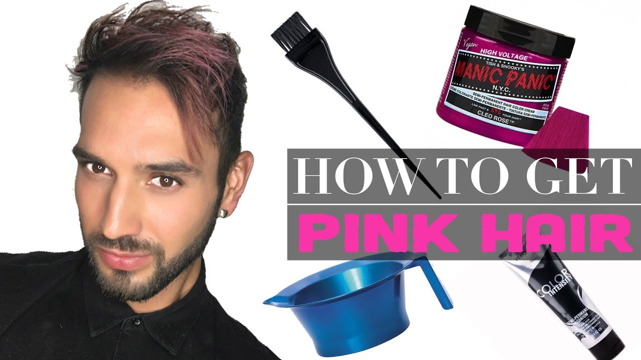 How To Get Pink Hair For Men Easy Mens Hairstyles Under 20