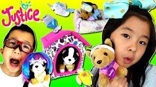 洋服 かわいすぎ😍 ワンちゃんを オシャレ コーデ🐶🐕👔👗 ジャスティス マーメイド ユニコーン モンスター ペットショップ😝 ごっこ遊び Justice Pet Shop thumbnail