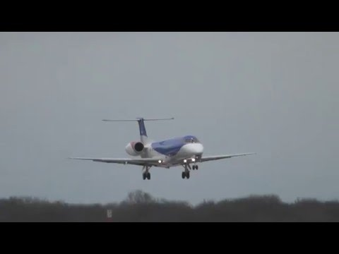 BMI Regional GRJXJ Lands Stansted Airport 29Jan16 1214p