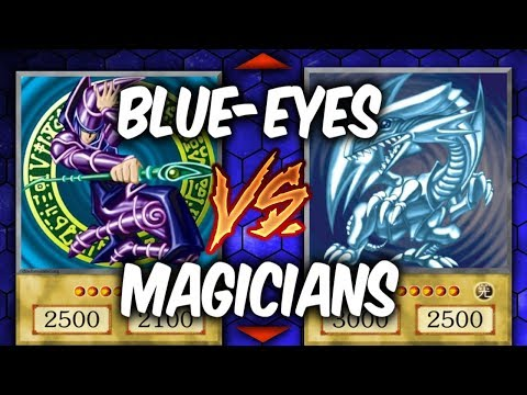 Yugioh BLUE-EYES DANGERS! VS DARK MAGICIAN WIND WITCH  (Yu-gi-oh Competitive Deck Duel!)