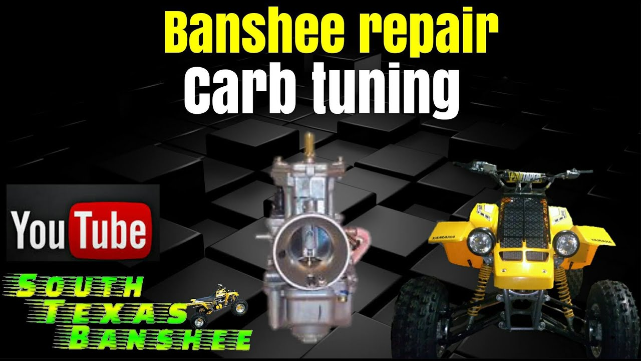 banshee stock carb tuning air mixture synch and idle adjustment [ 1280 x 720 Pixel ]