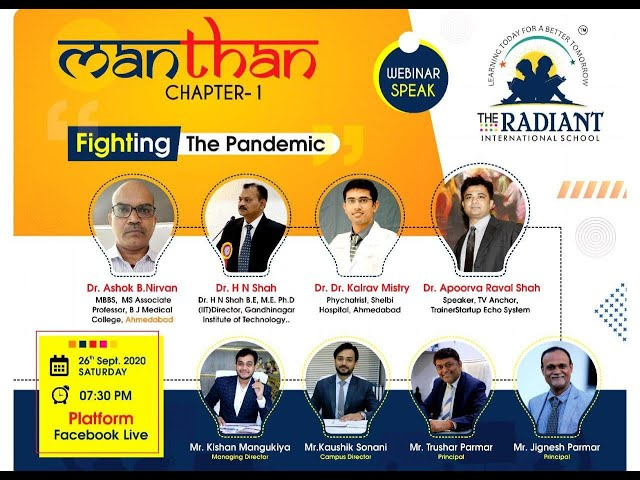 Manthan (Chapter-1) Fighting the pandemic Date:- 26th Sept. 2020 @THE RADIANT INTERNATIONAL SCHOOL