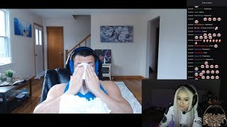macaiyla reaction to tyler1 losing the 10k bet (emotional)