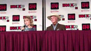 barbara eden and larry hagman talk lions and on set antics