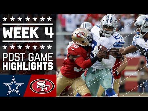Cowboys vs. 49ers   NFL Week 4 Game Highlights