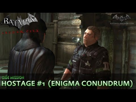 Batman: Arkham City - Riddler Hostage #1 - Enigma Conundrum Side Mission Walkthrough