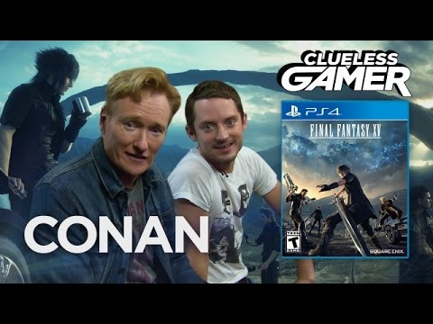 "Clueless Gamer: ""Final Fantasy XV"" With Elijah Wood  - CONAN on TBS"