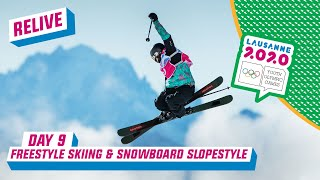 LIVE - Freestyle Skiing & Snowboarding Slopestyle - Day 9 | Lausanne 2020