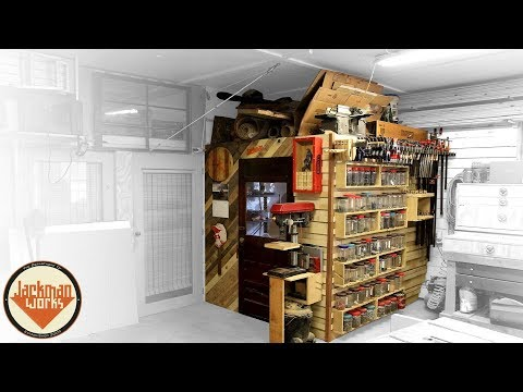 French Cleat Storage Wall & Loft