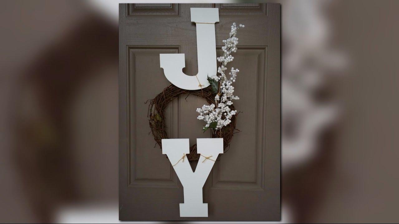 How To Make A Joy Wreath Easy Diy Youtube