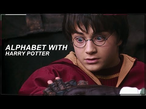 learn the alphabet with harry potter  me