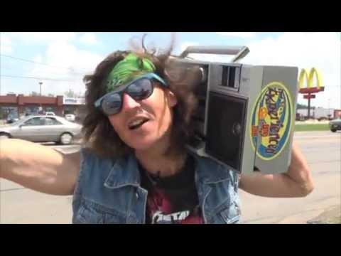 Boombox Guy rocks along Hamilton Road