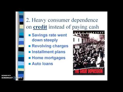 Unit 7 Lecture 2A: Causes of the Great Depression