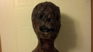 How to make a Zombie Prop using a Styrofoam head