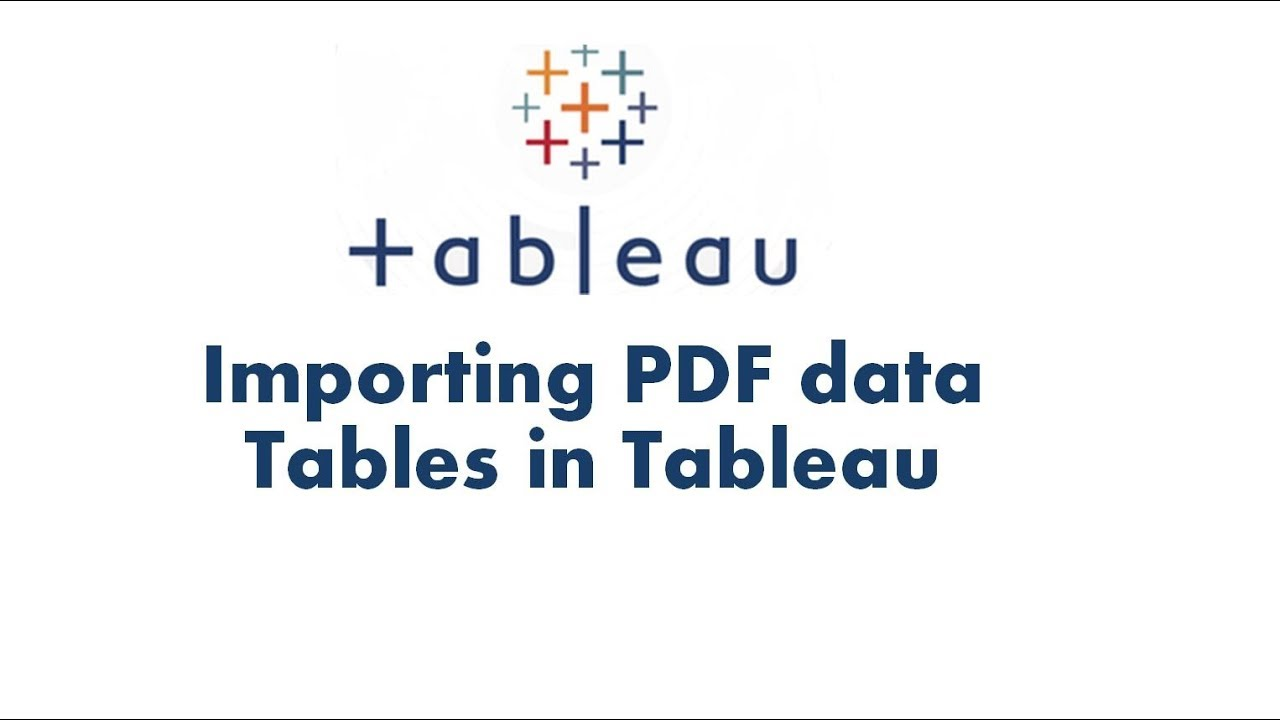 tableau tutorial 6 | connecting tableau with a pdf | importing pdf