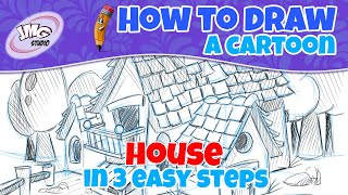 How to draw a cute cartoon house in 7 easy steps