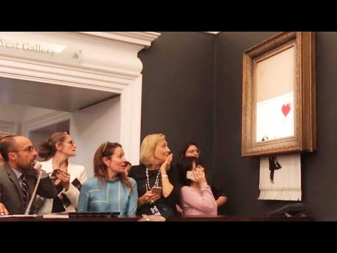 Banksy Artwork Shredded After Selling at Auction May Have Increased in Value