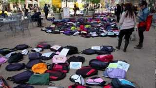 Send Silence Packing - Student Mental Health Awareness April 5 2012 NYC active minds