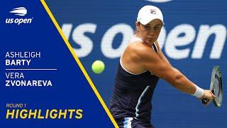 Ashleigh Barty vs Vera Zvonareva Highlights