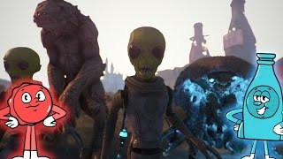 Fallout 4 - ALL OF NUKA WORLD S NEW CREATURES