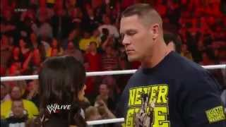 WWE Raw 11/19/12 Full Show John Cena And AJ Lee Kiss To The Dismay Of Vickie Guerrero