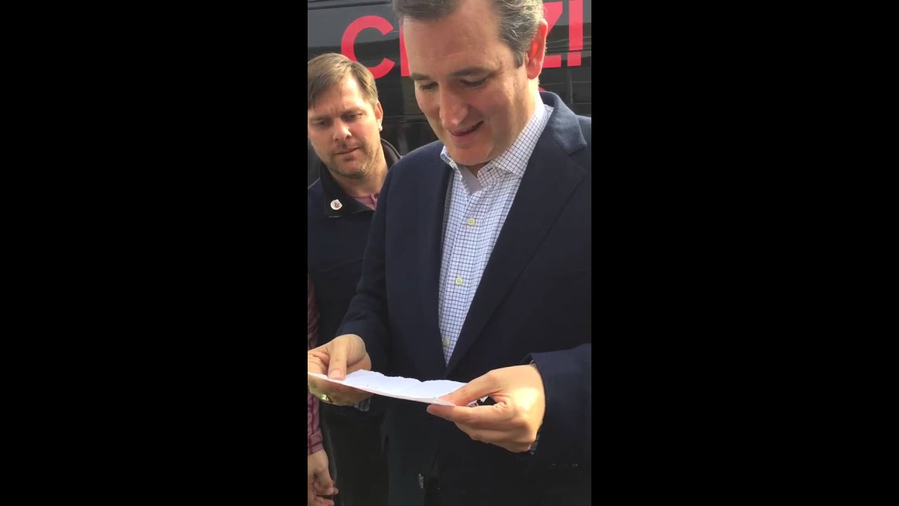 Ted Youtube: TEEN GETS TED CRUZ TO HELP WITH ULTIMATE PROMPOSAL