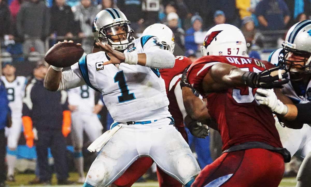 Cam Newton FIRST NFL game highlights  422 yards   3 TDs! - YouTube 8d14dea37
