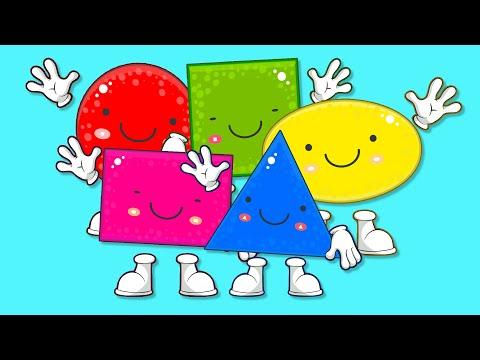 Учим Геометрические Фигуры для Детей - Развивающие Мультики для Детей
