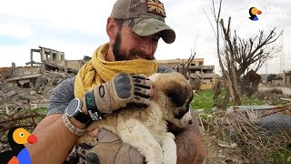 Soldier Saves Puppy Then Realizes He Can