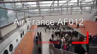 Air France Boeing B777-200 AF012 Paris Shanghai