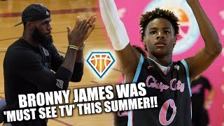 "Bronny ""Young King"" James HAD THE SUMMER ON TILT!! 
